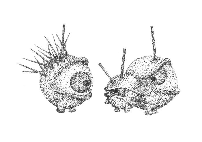 DEB6Illustration; Series with Donut EyeBalls